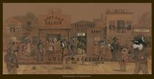 'Showdown in Dogville' Limited Edition Print, Features many breeds, 2012