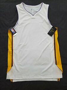 SZ Large 48 Nike Basketball NBA Lakers AH8793-100 Aeroswift Blank Jersey NEW