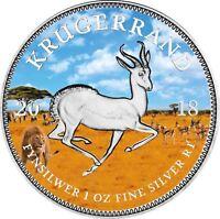 Südafrika 1 Rand 2018 Krügerrand Silbermünze PANGÄA Serie in Farbe