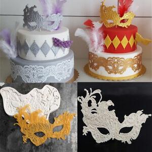 Lace Mask Silicone Fondant Cake Decor Mold Sugarcraft Chocolate Baking DIY Mould
