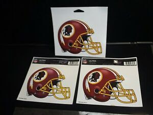Washington Redskins Multi Use Decal Window Car  Reusable 5x4 Inches lot of 3