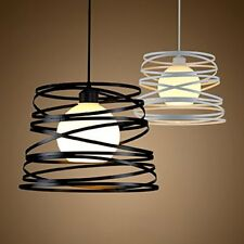 Retro Style Gloss Grey Metal Easy Fit Ceiling Pendant Light Shade