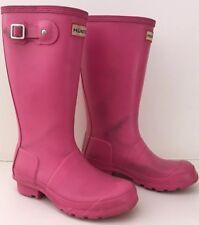 Childs Kids Girls Wellies, Hunter Wellington Boots Size 1 Pink