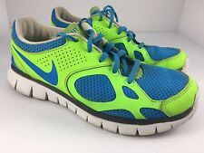 Nike iD Flex Womens US 7.5 Green & Blue Running Shoes 574354