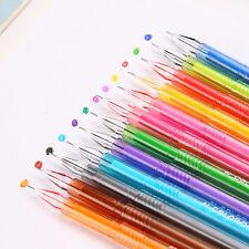 2Pcs Candy Color Crystal Gel Pen School Supplies Draw Colored Pen Hot
