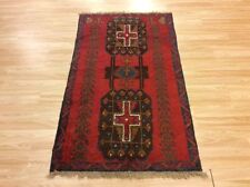 Genuine Afghan Handmade Baluch Nomadic Tribal Wool Red Rug Runner 85x140cm 60 of