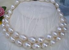 9-10MM Weiß Süßwasser Perlenkette 89cm