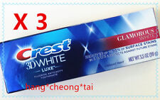 3 X Crest Dentifrice Glamorous White Luxe Blanc - menthe éclatante 3.5oz (99g)
