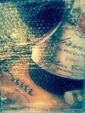 Leinwand Bild Wein braun mit Korkenzieher 40x30 cm antik Rarität Vintage Deko