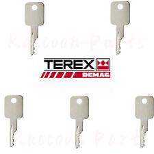 5pcs Terex Forklifts Manufactured After 1995 Oem 714602 Ignition Keys D250