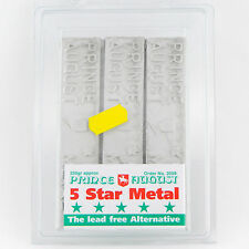 Casting Lead Free Metal '5 Star' Pewter Ingots X3 Prince August PA2059