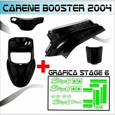 BODY KIT BLACK  MBK BOOSTER BW'S FROM 2004 + STICKER STAGE 6 ADESIVI VERDE