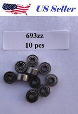 10 PCs High Quality 693ZZ 3x8x4mm Miniature Ball Bearings 619/3ZZ