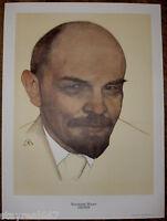 Authentic Rare Soviet Russian USSR Propaganda Lenin Portrait Poster