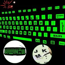 LUMINOUS GLOW-IN-THE DARK KEYBOARD STICKERS FULL SET - RECORDED UK POST