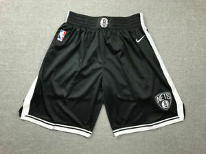 Classic Brooklyn Nets Basketball Shorts Genäht Schwarz