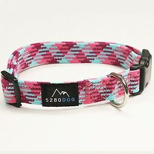 5280 DOG Pink Nylon Braided Collar, Large By: 5280 Dog