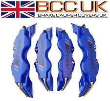 BIG BLUE Brake Caliper Covers Kit Black M Power Logo Front Rear 4x L+M fits BMW