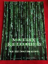 Matrix Reloaded Kinoplakat Poster A1 Hochglanz, Keanu Reeves, Monica Bellucci