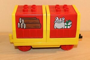 Lego Duplo Train Cargo Big Car Red Wood And Mail Waggons L1650