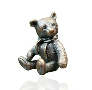 Penny Bears - Bronze Miniature Teddy Bear Sculpture - Monty Bear.