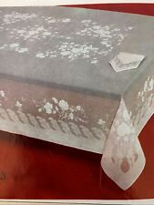 Brand New Vintage Jacquard Tablecloth, New in Package, 70 X 108 Oval,Harbox1,16