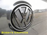 VW Golf Mk7 Front and Rear Badge Inlay Graphic Vinyl Graphics Satin Silver