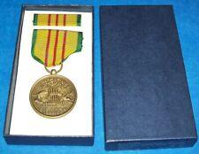 Mint Original Nos Vietnam Service Medal & Ribbon Bar In 1969 Dated Box
