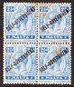 Malta KGV 1922 SG107 2-1/2d. Bright Blue O/Print Blk of 4 MNH stamps
