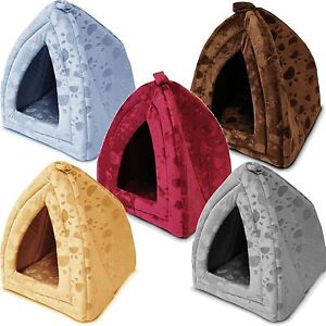 Luxury Pet House Igloo Dog Cat Soft Comfy Bed Cats Dogs Beds Houses