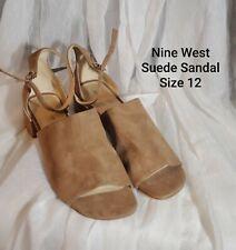 Nine West Tan Suede Sandal - Women's Size 12