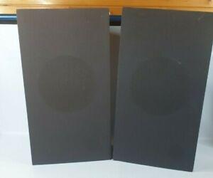 """Vintage 19"""" Dark Wood Bookshelf Speakers Pair"""