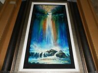 "MATT BEYRER ""HIDDEN FALLS"" FRAMED HAND-SIGNED NUMBERED LIMITED EDITION CALDOGRAP"