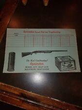 Vintage 1940s Vintage Remington Kleanbore Trapshooting Score Sheet Unused