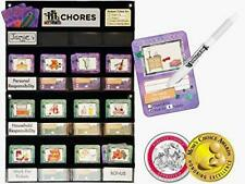 Neatlings Chore Chart System | 1 Child | 80+ Chores | Teal & Purple Cards