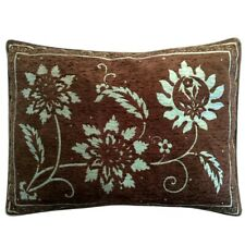 "Upholstery/Chenille Jacquard Floral Brown-Green 20""x28"" Pillowcase/Cushion Cover"