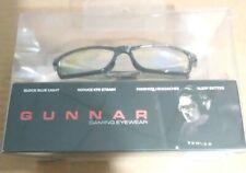 GUNNAR gaming Glasses VERTEX 54-16 Onyx Black Frame w/ Amber Yellow Lenses