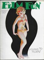 FILM FUN - VINTAGE MEN'S INTEREST MAGAZINE~March 1934 ENOCH BOLLES Cover EXCOND!
