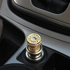 Crystal Bling Car Cigarette Lighter 12V Rhinestone Car Charger Decor Accessory
