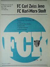 Programm 1984/85 FC Karl Marx Stadt - CZ Jena