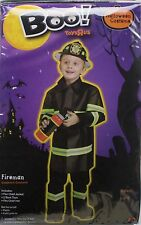 Halloween Boys Fire Chief Fireman Jacket Top Hat Costume Size Large 4-6 NWT