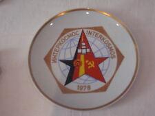 RAR EHRENGESCHENK WANDTELLER 1978 INTERKOSMOS 23,5CM HENNEBERG PORZELLAN