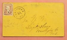 1860S TANEYTOWN MD MARYLAND CANCEL