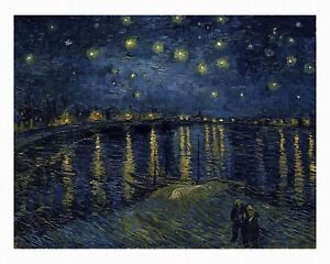 VAN GOGH Starry Night over the Rhone Giclee Fine Art Canvas Print