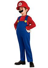 DELUXE MARIO CHILD COSTUME! RED SUPER MARIO BROS KID'S LARGE RUBIE'S NEW