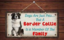 """203Hs Border Collie Is Member Of The Family 5""""x10"""" Aluminum Hanging Novelty Sign"""