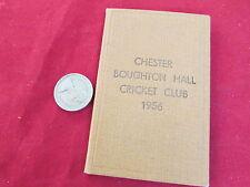 CHESTER Broughton Hall Cricket Club Stagione 1956 APPARECCHIO Carta / BIGLIETTO membri