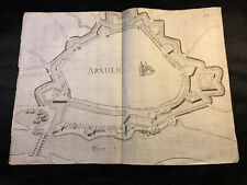 1600s Large Fortification Map - Arnhem, Netherlands