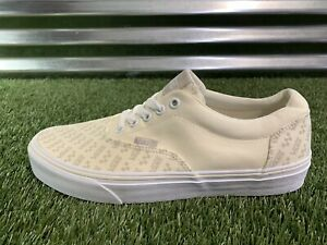 Vans Doheny Logo Repeat Skate Shoes Off White Mens SZ 9 ( VN0A3MTF2LL )