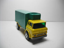 MATCHBOX SUPERFAST #44D GMC REFRIGERATOR TRUCK RARE YELLOW/TURQUOISE MODIFIED!!A